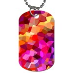 Geometric Fall Pattern Dog Tag (Two Sides) Front