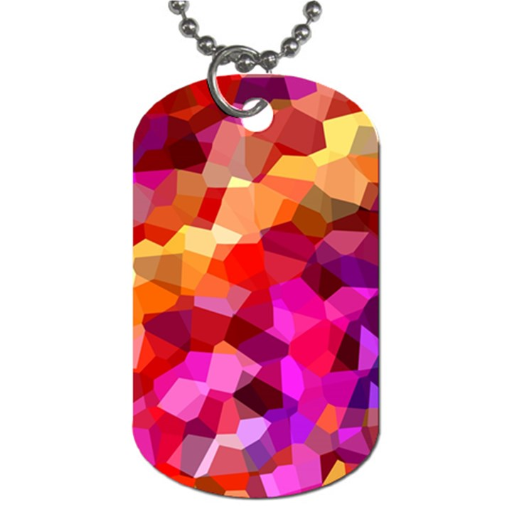 Geometric Fall Pattern Dog Tag (Two Sides)