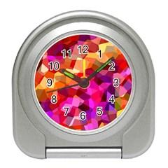 Geometric Fall Pattern Travel Alarm Clocks