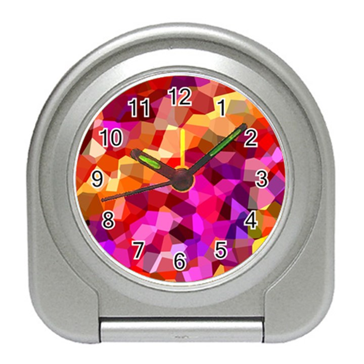 Geometric Fall Pattern Travel Alarm Clocks
