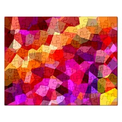 Geometric Fall Pattern Rectangular Jigsaw Puzzl