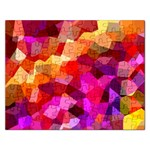 Geometric Fall Pattern Rectangular Jigsaw Puzzl Front