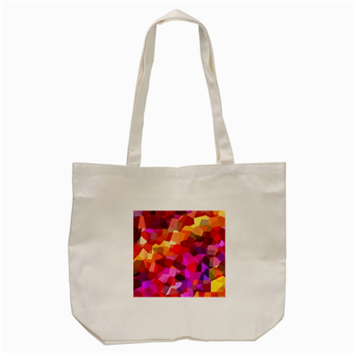 Geometric Fall Pattern Tote Bag (Cream)