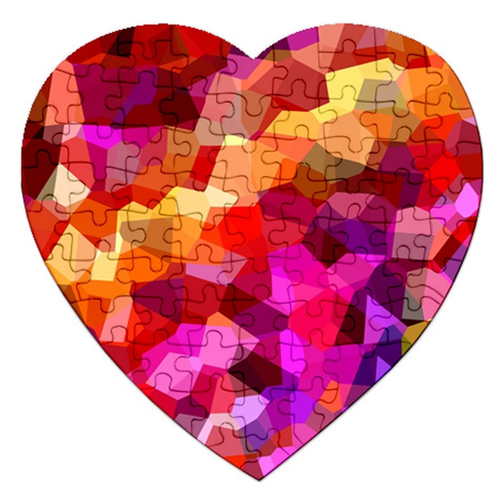 Geometric Fall Pattern Jigsaw Puzzle (Heart)
