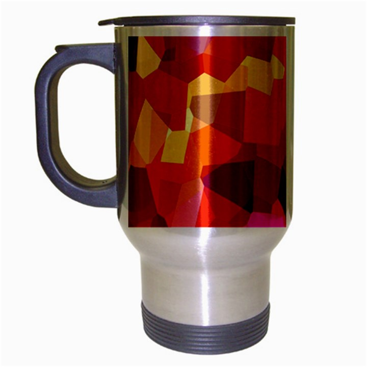 Geometric Fall Pattern Travel Mug (Silver Gray)