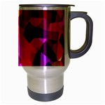 Geometric Fall Pattern Travel Mug (Silver Gray) Right