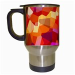 Geometric Fall Pattern Travel Mugs (White) Left