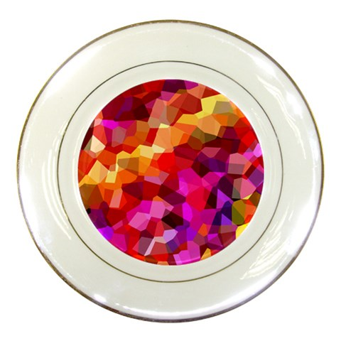 Geometric Fall Pattern Porcelain Plates
