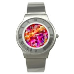 Geometric Fall Pattern Stainless Steel Watch Front