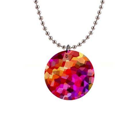 Geometric Fall Pattern Button Necklaces