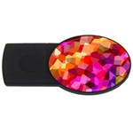 Geometric Fall Pattern USB Flash Drive Oval (4 GB)  Front