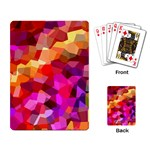 Geometric Fall Pattern Playing Card Back