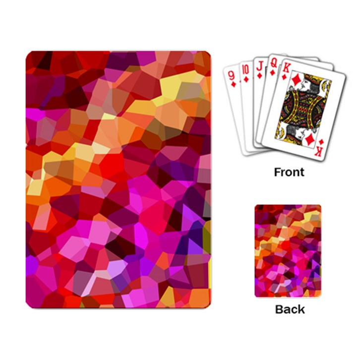 Geometric Fall Pattern Playing Card