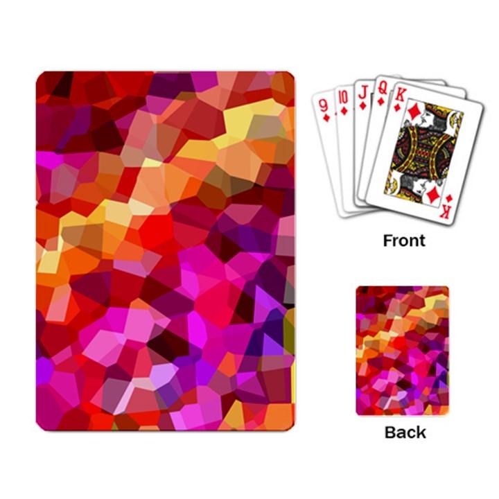 Geometric Fall Pattern Playing Card