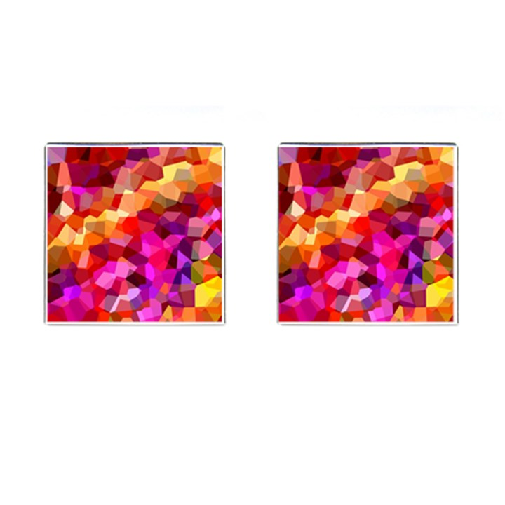 Geometric Fall Pattern Cufflinks (Square)