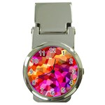 Geometric Fall Pattern Money Clip Watches Front
