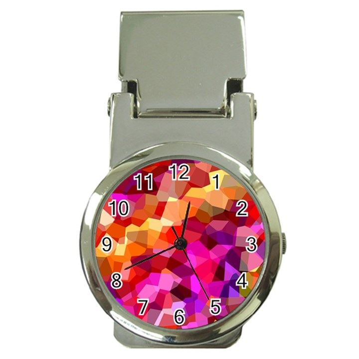 Geometric Fall Pattern Money Clip Watches