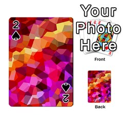 Geometric Fall Pattern Playing Cards 54 Designs
