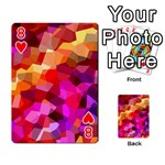 Geometric Fall Pattern Playing Cards 54 Designs  Front - Heart8