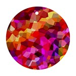 Geometric Fall Pattern Round Ornament (Two Sides)  Front