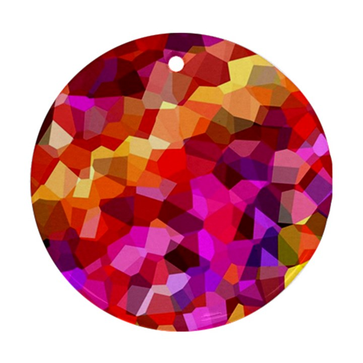 Geometric Fall Pattern Round Ornament (Two Sides)