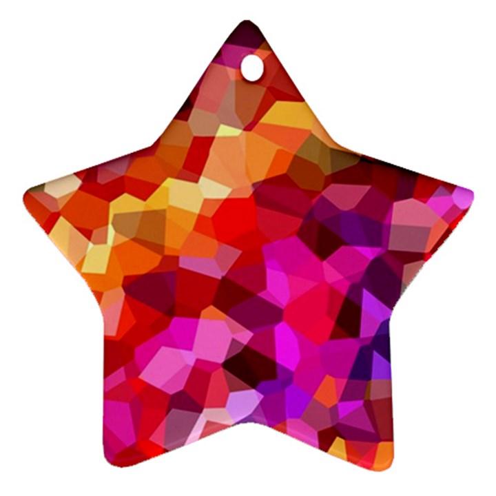 Geometric Fall Pattern Star Ornament (Two Sides)