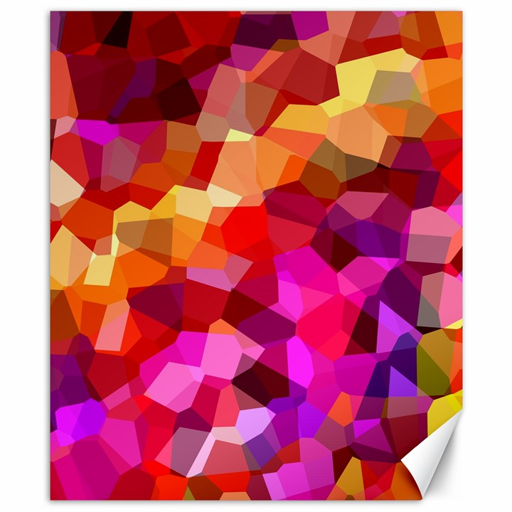 Geometric Fall Pattern Canvas 8  x 10