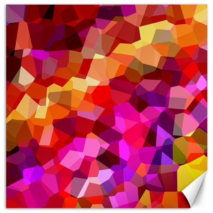 Geometric Fall Pattern Canvas 12  x 12