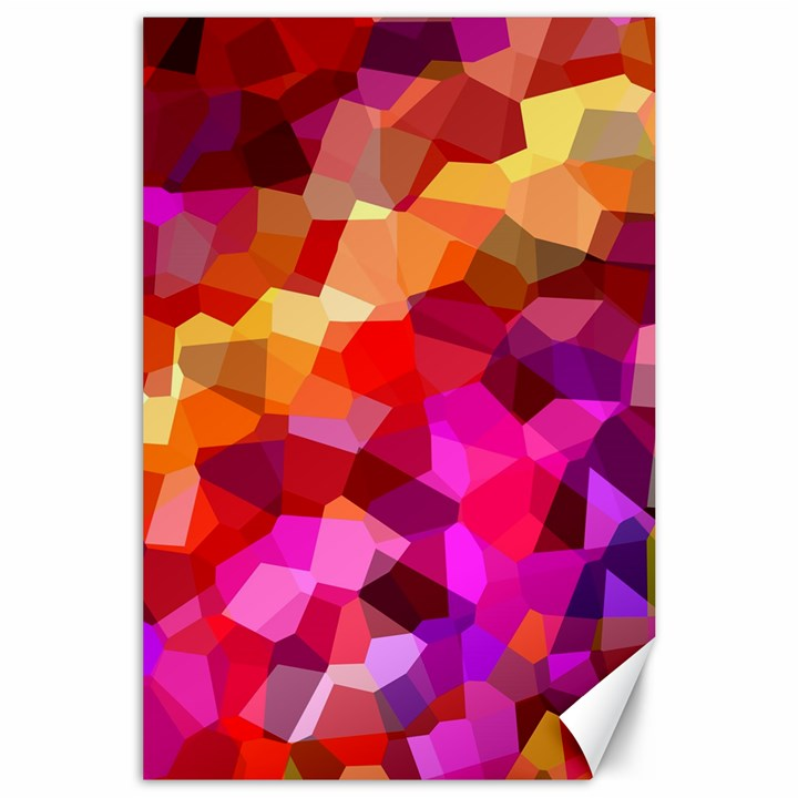 Geometric Fall Pattern Canvas 24  x 36