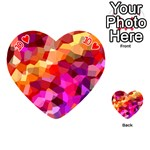 Geometric Fall Pattern Playing Cards 54 (Heart)  Front - Heart10