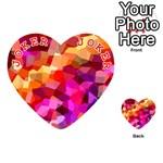 Geometric Fall Pattern Playing Cards 54 (Heart)  Front - Joker2