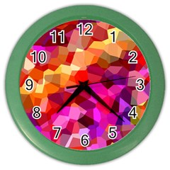 Geometric Fall Pattern Color Wall Clocks