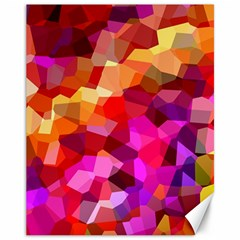 Geometric Fall Pattern Canvas 11  x 14