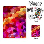 Geometric Fall Pattern Multi-purpose Cards (Rectangle)  Back 27