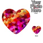 Geometric Fall Pattern Multi-purpose Cards (Heart)  Front 27