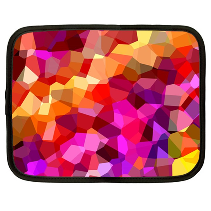 Geometric Fall Pattern Netbook Case (Large)