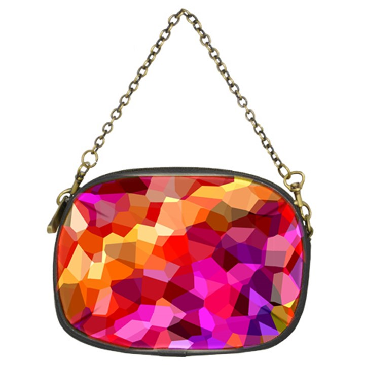 Geometric Fall Pattern Chain Purses (Two Sides)