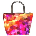 Geometric Fall Pattern Bucket Bags Back