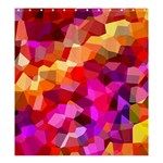 Geometric Fall Pattern Shower Curtain 66  x 72  (Large)  58.75 x64.8 Curtain