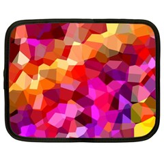 Geometric Fall Pattern Netbook Case (XL)