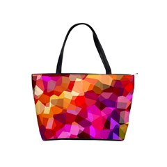 Geometric Fall Pattern Shoulder Handbags
