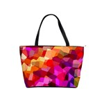 Geometric Fall Pattern Shoulder Handbags Front