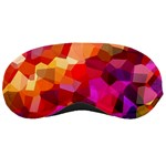 Geometric Fall Pattern Sleeping Masks Front