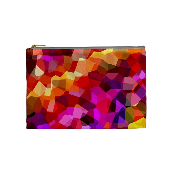 Geometric Fall Pattern Cosmetic Bag (Medium)