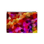 Geometric Fall Pattern Cosmetic Bag (Medium)  Back