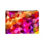 Geometric Fall Pattern Cosmetic Bag (Large)  Back