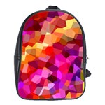 Geometric Fall Pattern School Bags(Large)  Front
