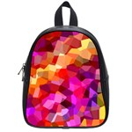 Geometric Fall Pattern School Bags (Small)  Front