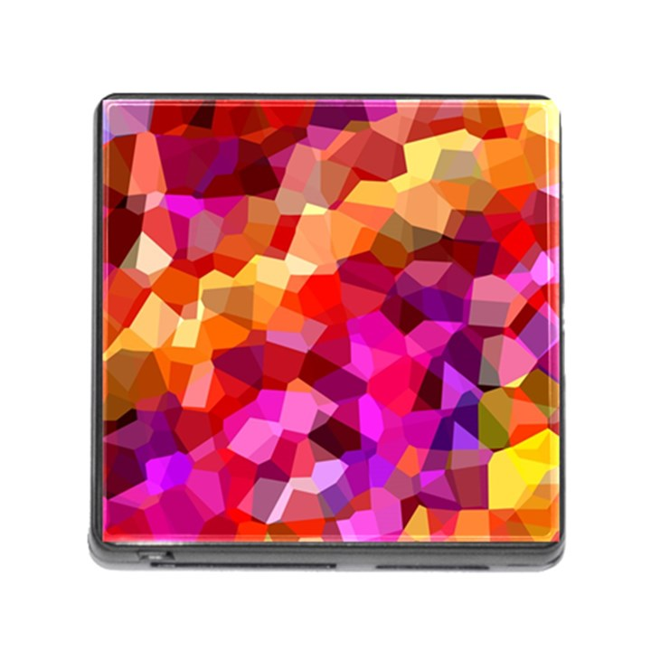 Geometric Fall Pattern Memory Card Reader (Square)