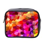 Geometric Fall Pattern Mini Toiletries Bag 2-Side Front
